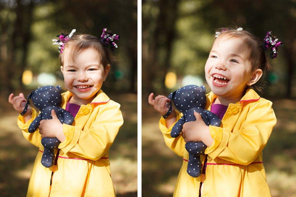 Фотографии Софии в осеннем парке