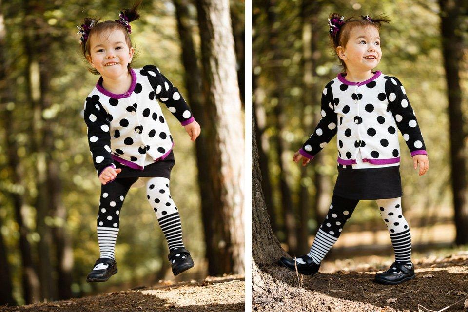 Фото ребенка, прыгающего в парке