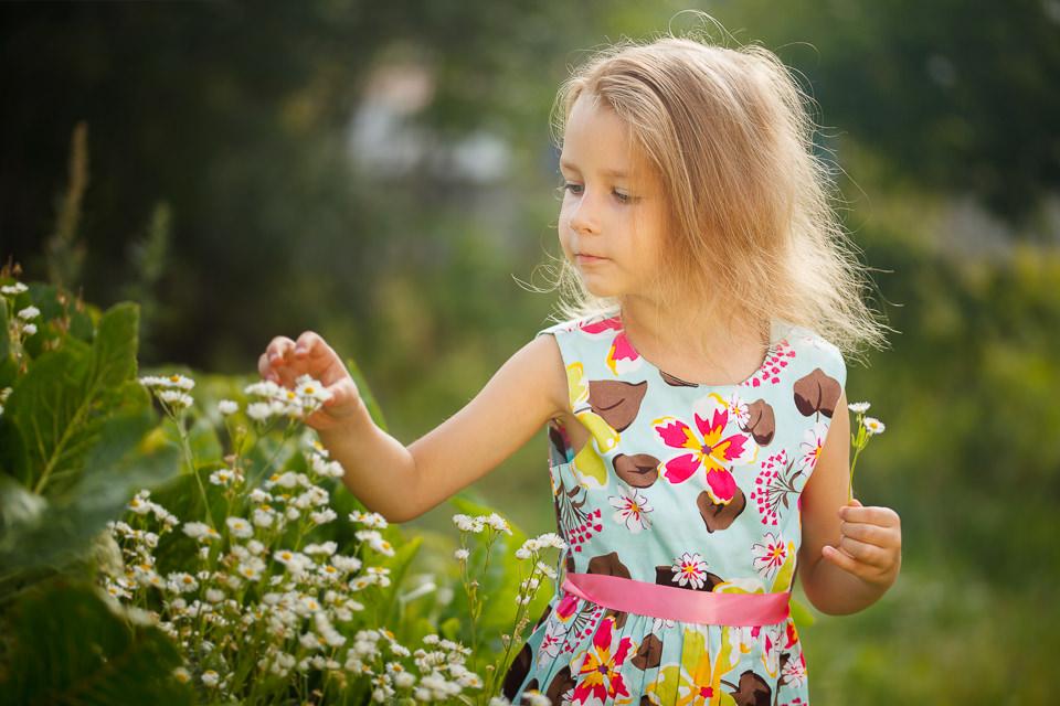 Детская фотосессия для Ульяны на природе