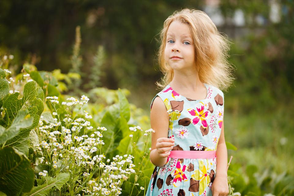 Фотосессия для детей на природе