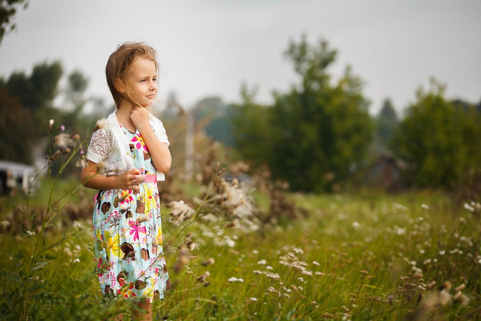 Детская фотосъемка для Ульяны на открытом воздухе в Минске