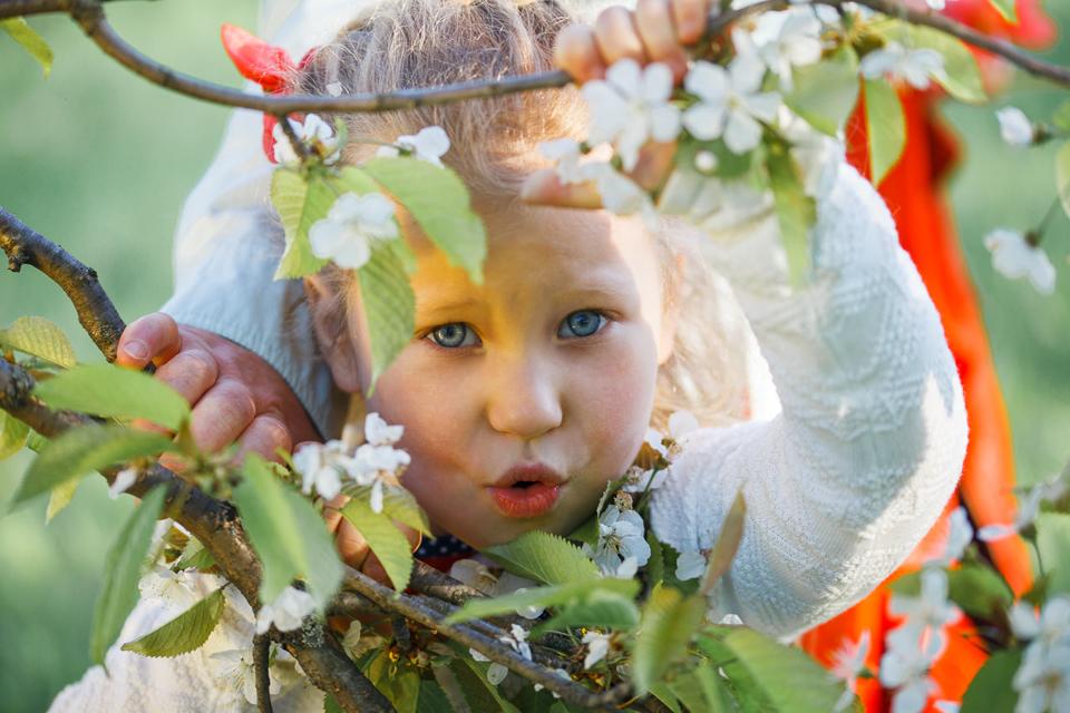 Фотосъемка Мелиты в цветущем саду