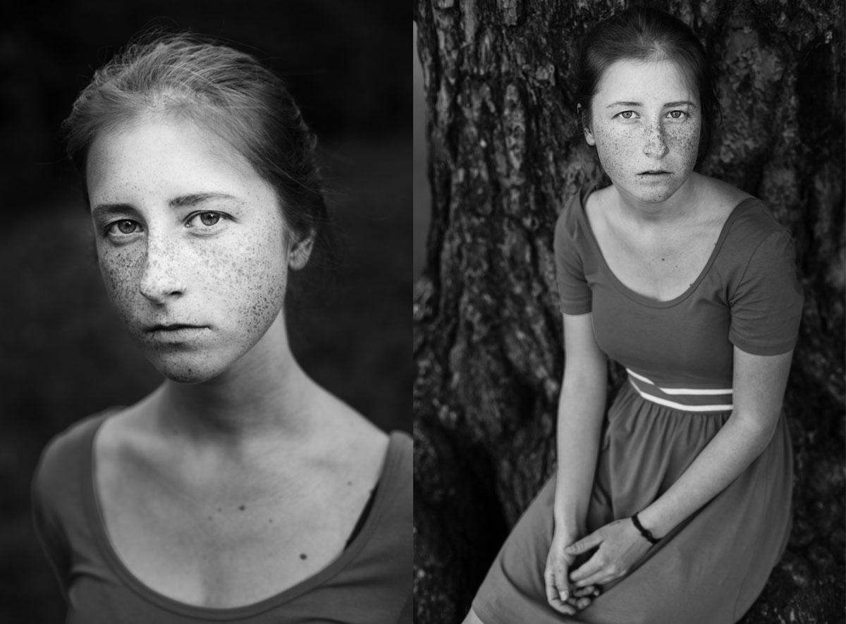 Диптих - черно-белые портреты