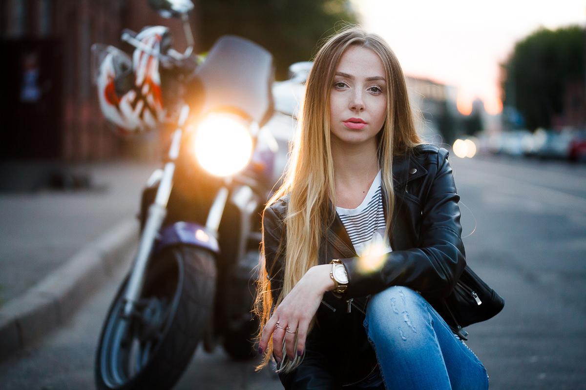 Фотосессия с мотоциклом