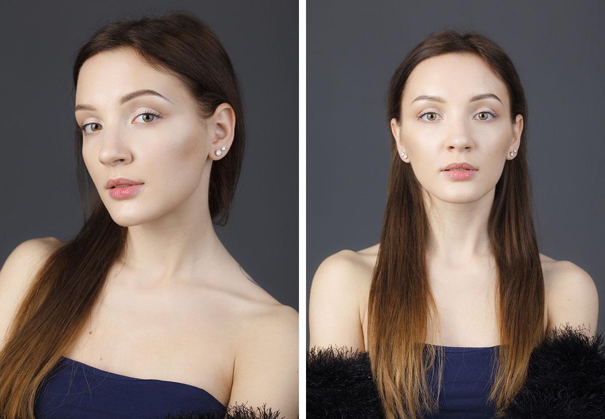 Портретная фотосъемка девушки в студии