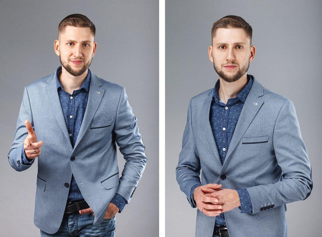 Съемка делового портрета в профессиональной фотостудии в Минске