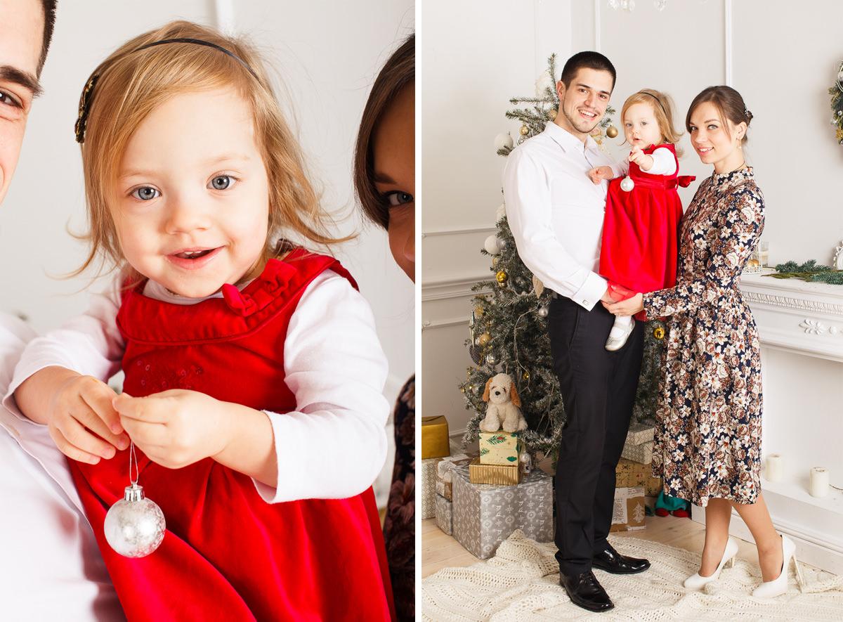 Студийная фотосессия для семьи с ребенком в Минске
