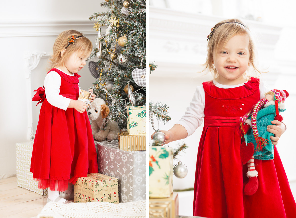 Фотографии девочки в нарядном платье в фотостудии