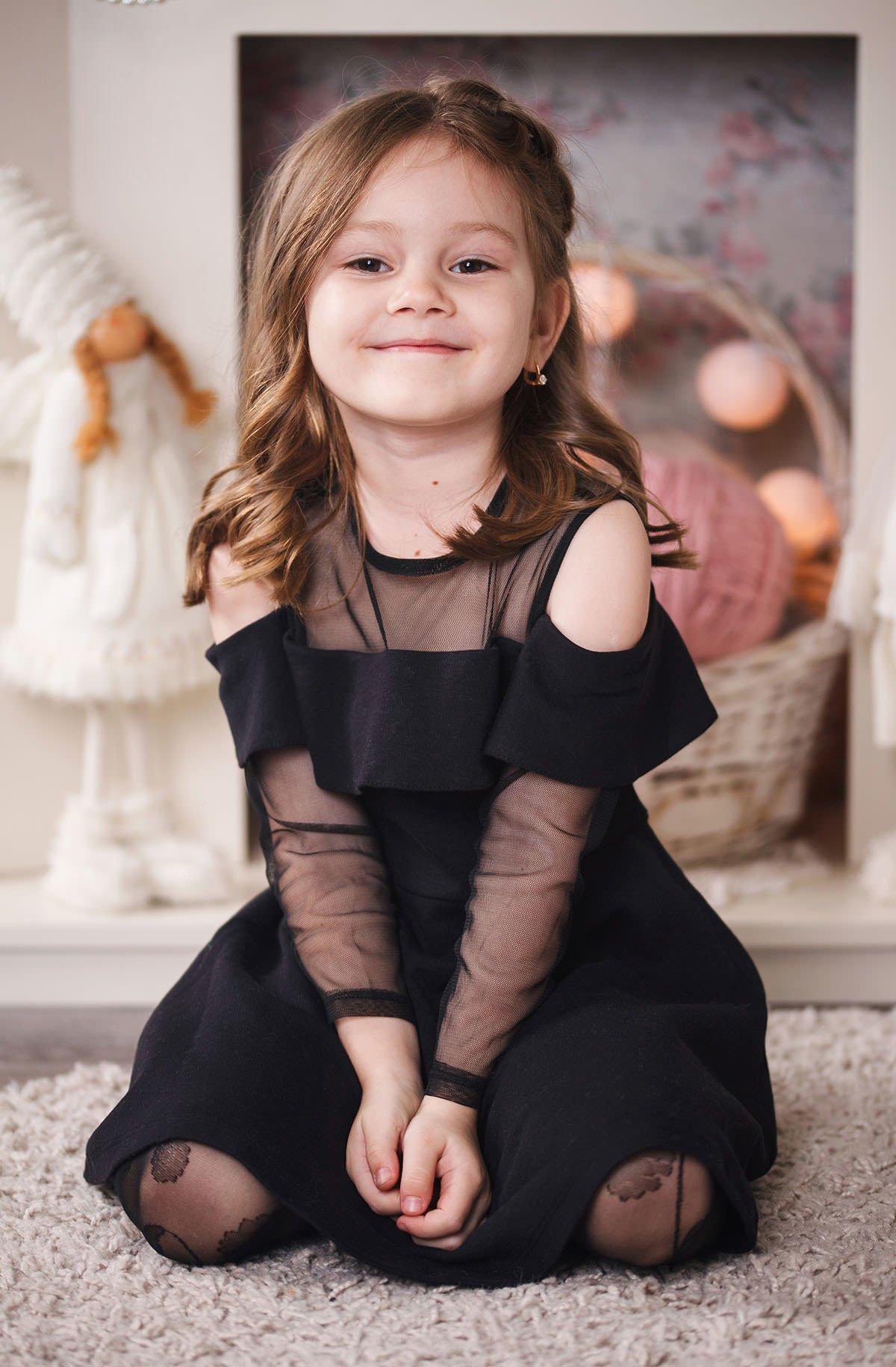 Детская фотосессия для Варвары в фотостудии Vita