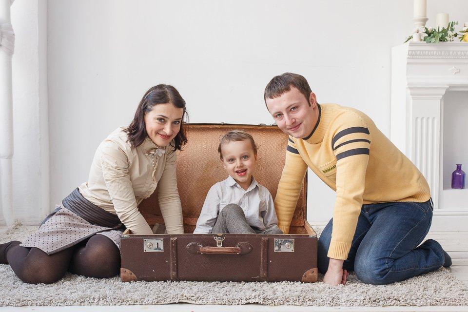 Семейная фотография - Боря с родителями