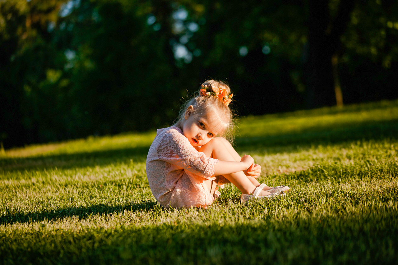 Детская фотосессия в парке-17