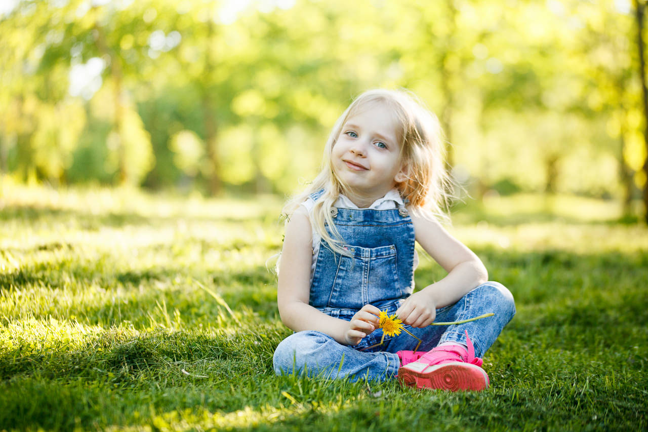 Детская фотосессия в парке-2