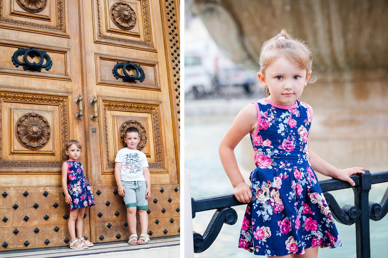 Детская фотосессия в Бари для Вари и Кирилла