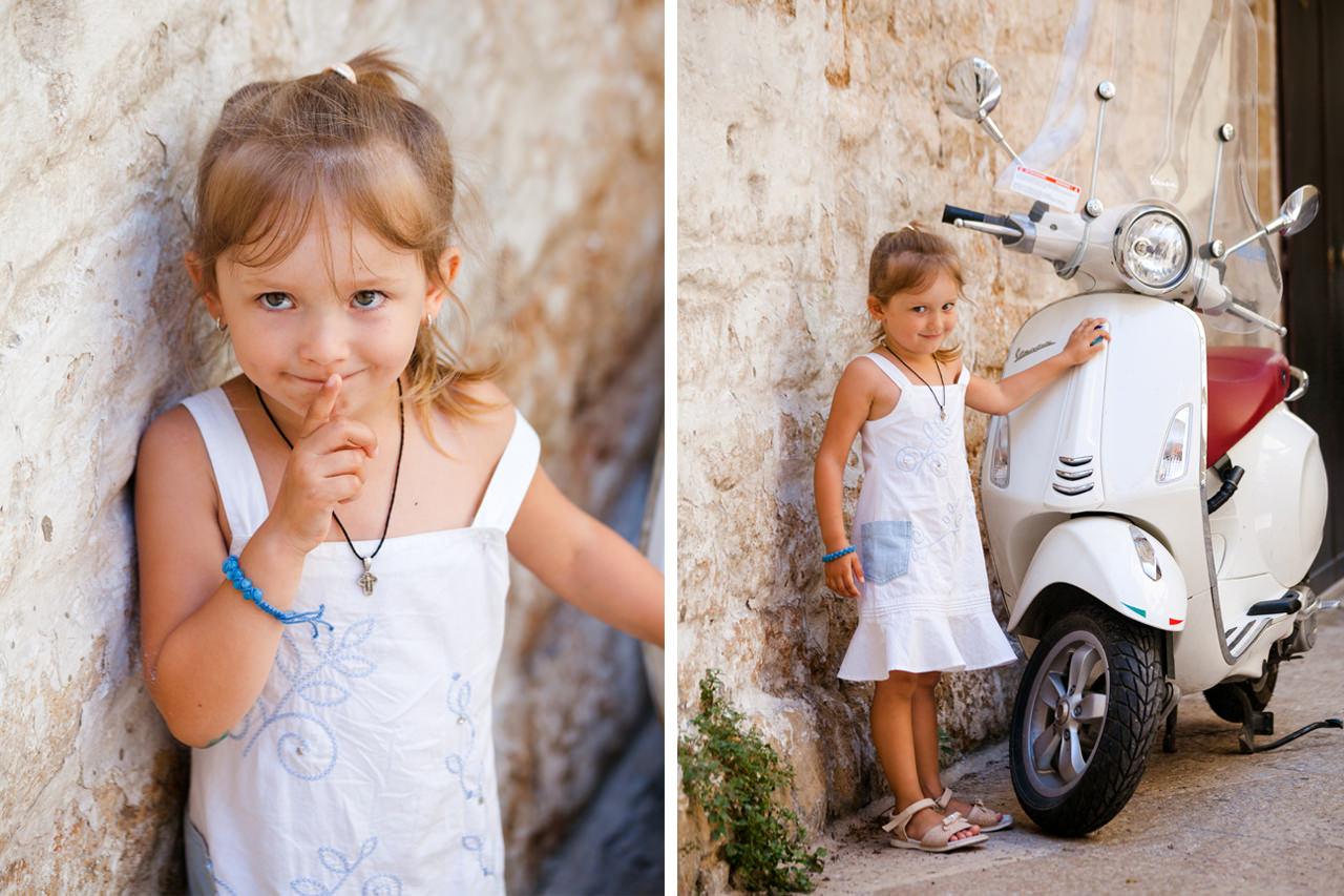 Летняя детская фотосессия в Италии