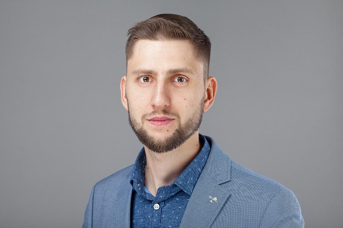 Фотосъёмка мужского бизнес портрета